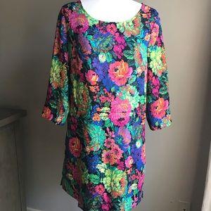 Anthropologie floral print dress w pockets M